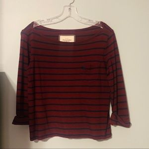 Abercrombie & Fitch Maroon Striped Top